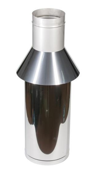 Чертеж - «Коаксиальные дымоходы: Труба  / с зонтом»